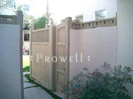 custom fence Panels for trash enclosures
