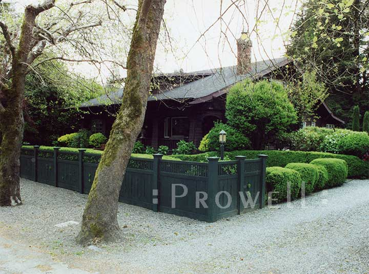 Prowell's custom wood fence Panel #1 in Ross, CA
