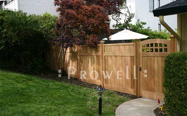 Privacy wood fence panels in California