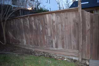 Replacing a wood fence