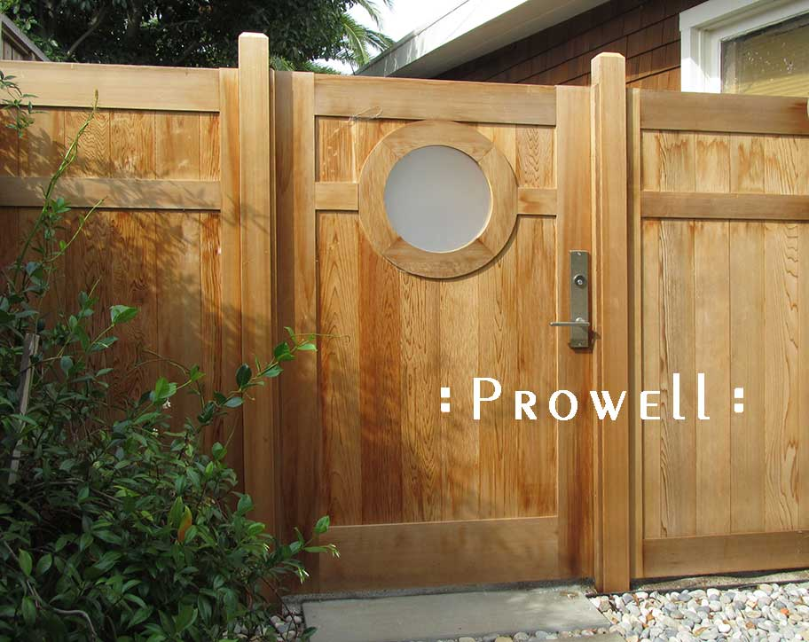 Natural cedar wood fence #20-2. Marin County. Prowell