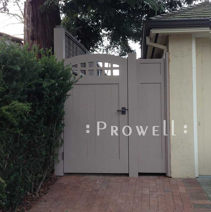 custom wood fence panels #20-1 in the Silicone valley, CA