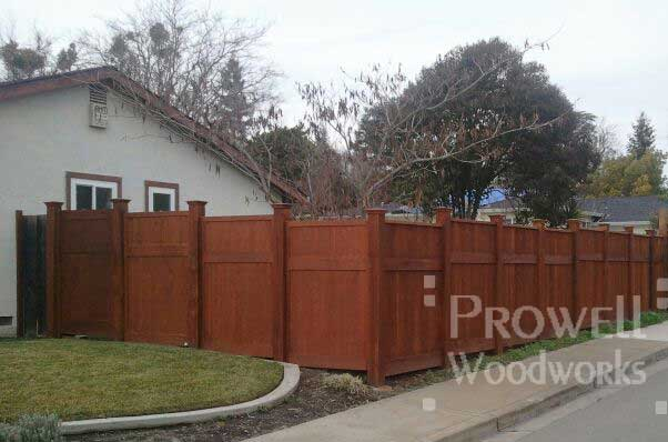 custom wood privacy fence panels in contra costa country, ca