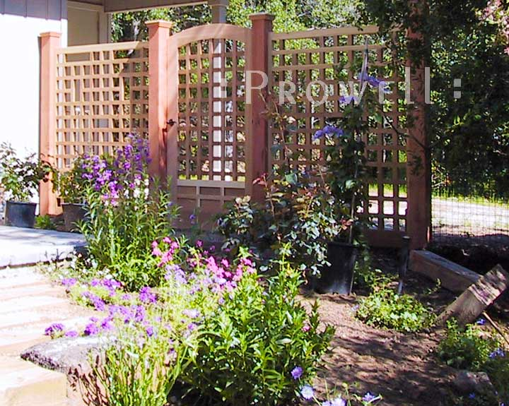 wood garden fence panels #21-1 in southern California
