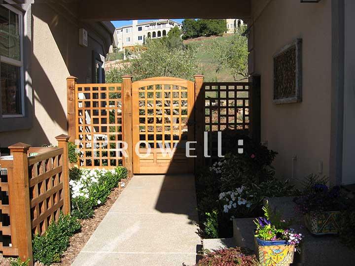 custom wood fence panels #21-2 in Napa, CA