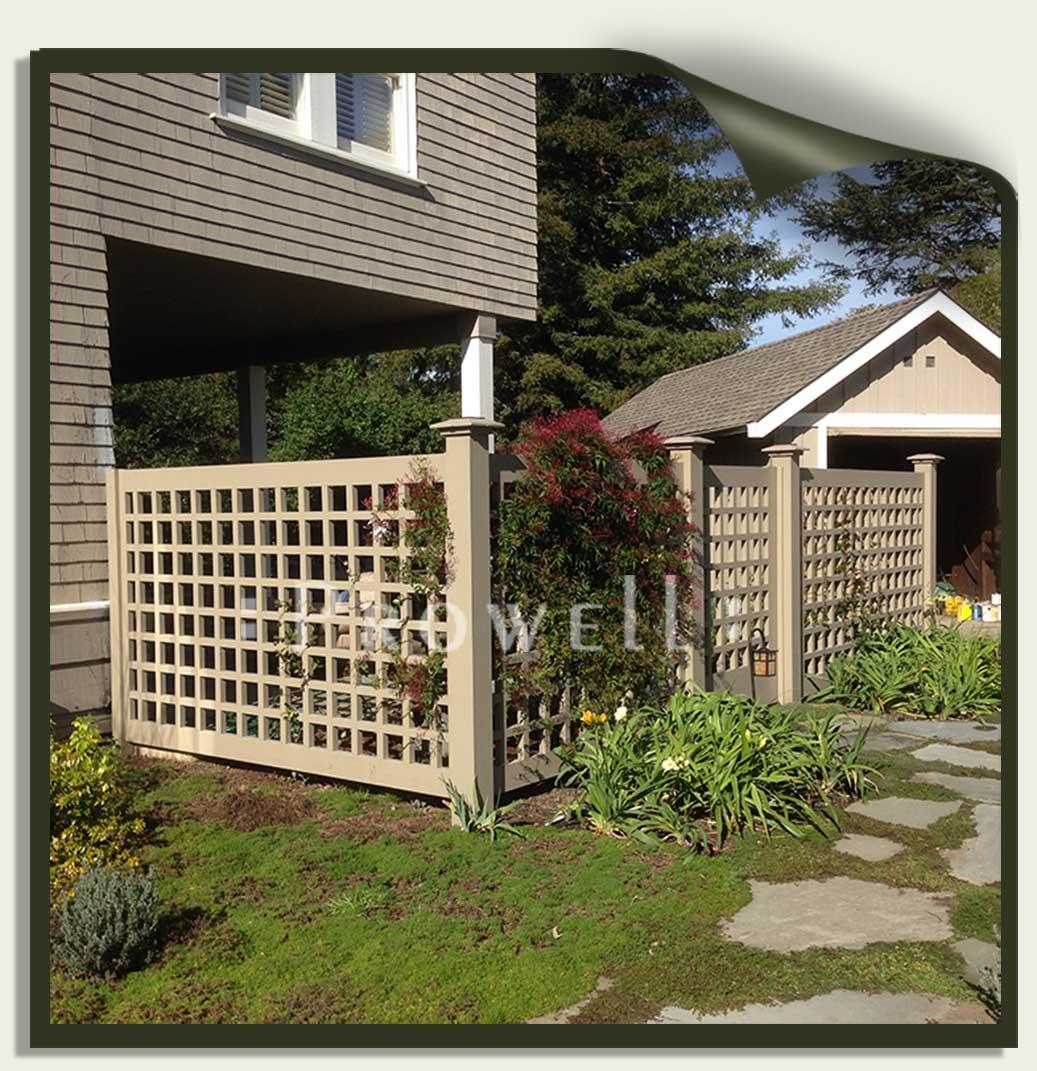 custom wood fence panels #21 in Marin County, CA