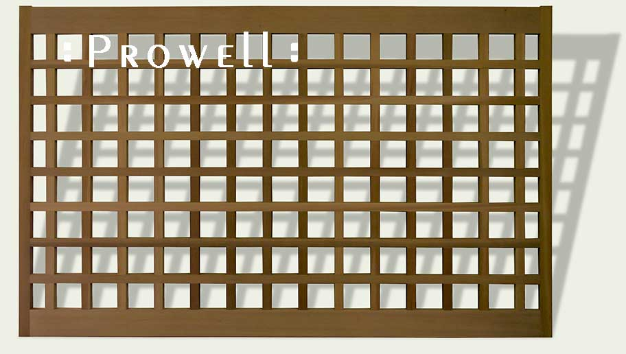 custom wood fence panels #21 with open grids