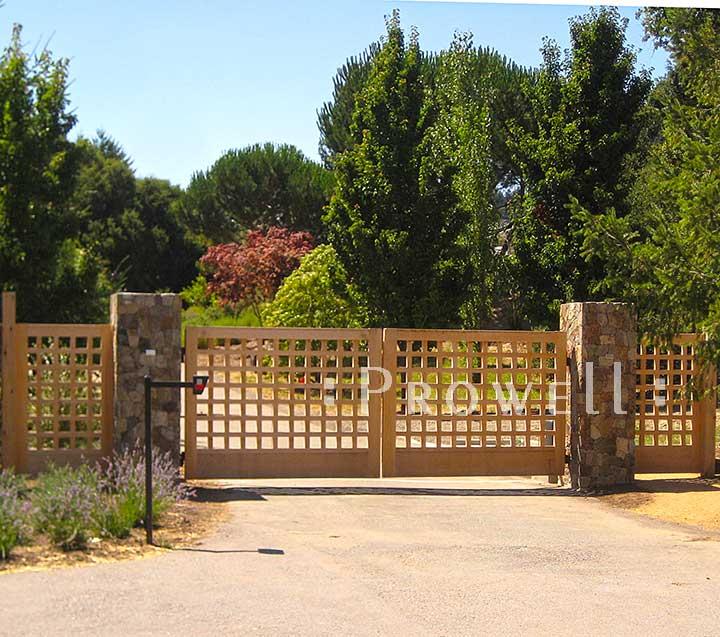 custom wood fence panels #21-7