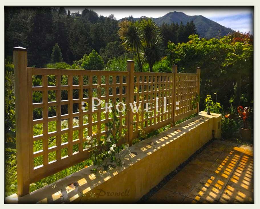wood garden fence #21-8. prowell
