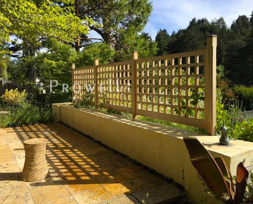 custom wood fence panels #21-8 in Marin County, CA