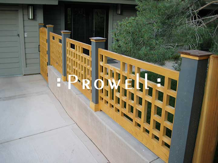 custom wood fence railing #21 in Nevada