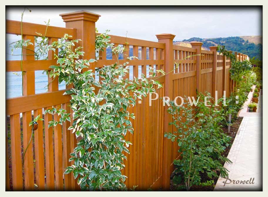 custom wood garden fence 22-1. prowell