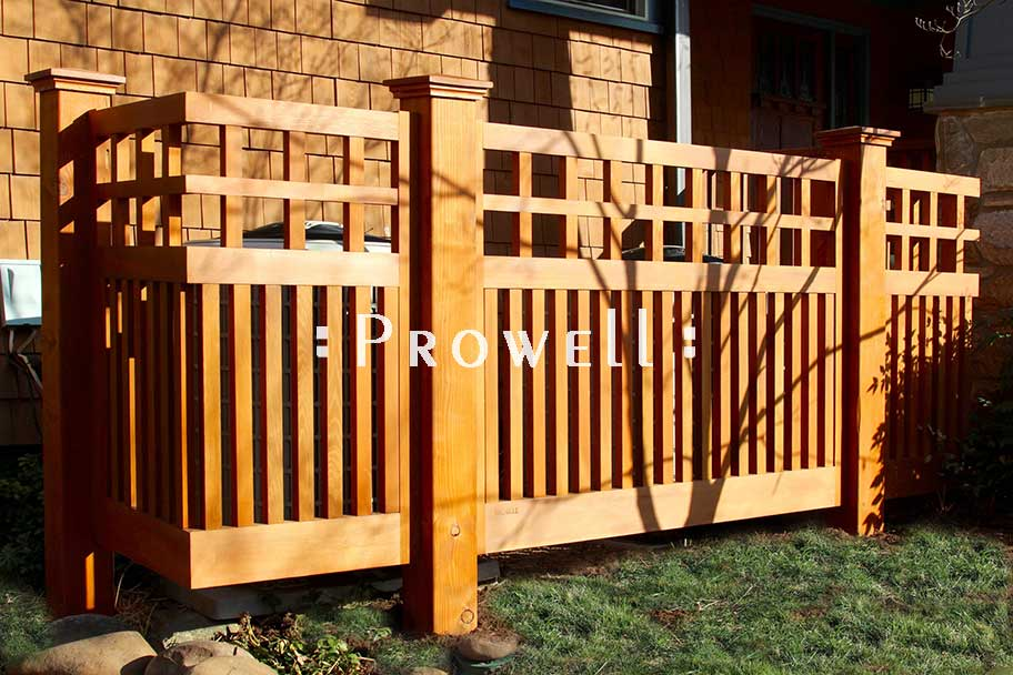custom wood fence panels #22-3