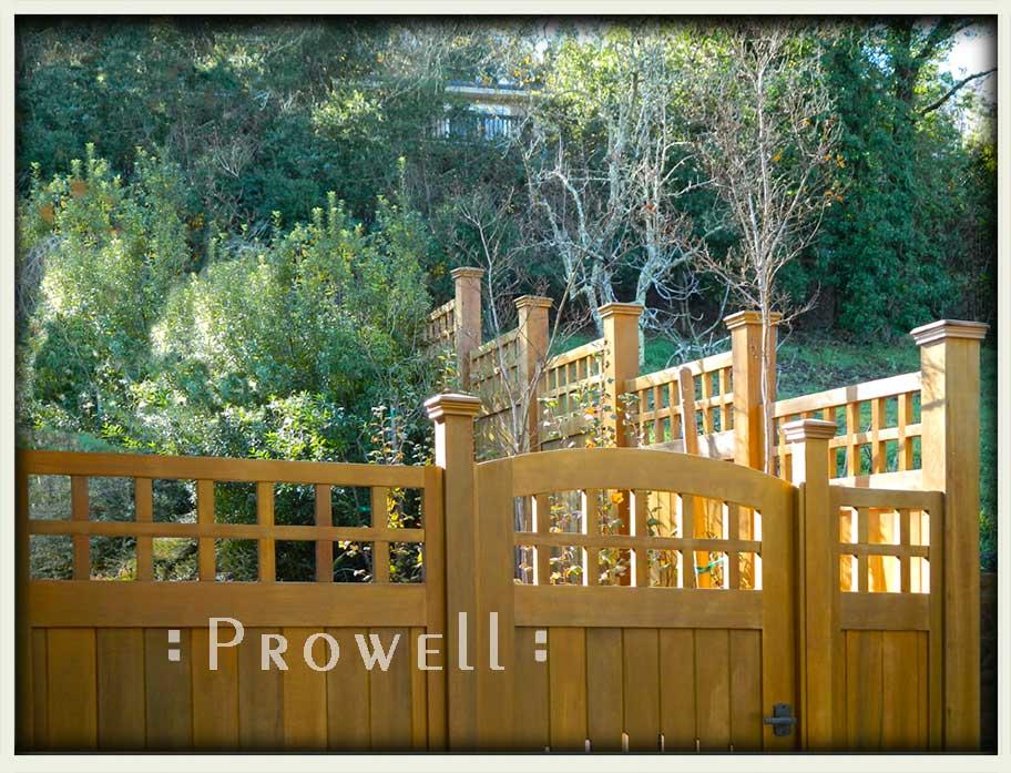 custom wood fence 22-4. prowell