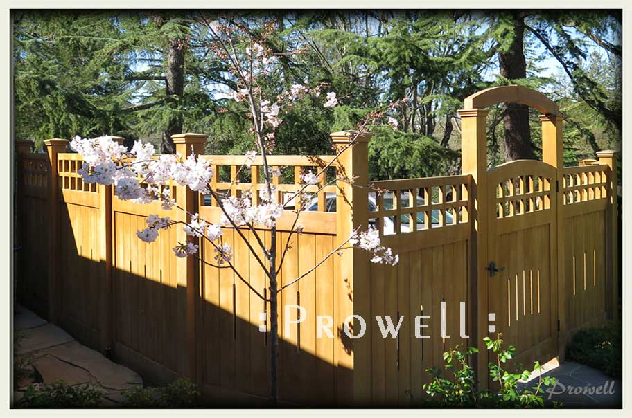custom wood garden fence #22-4. prowell