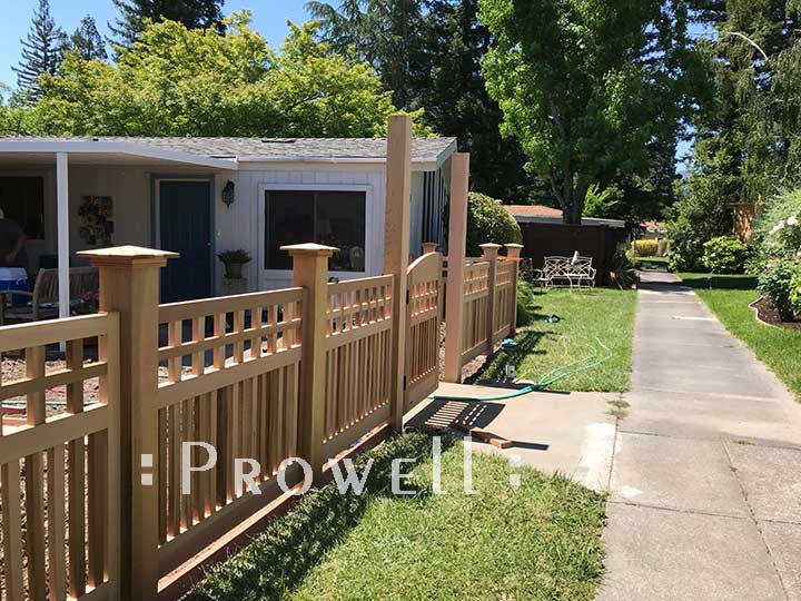 In-Progress installation of fence style #22-6 in Napa County, CA