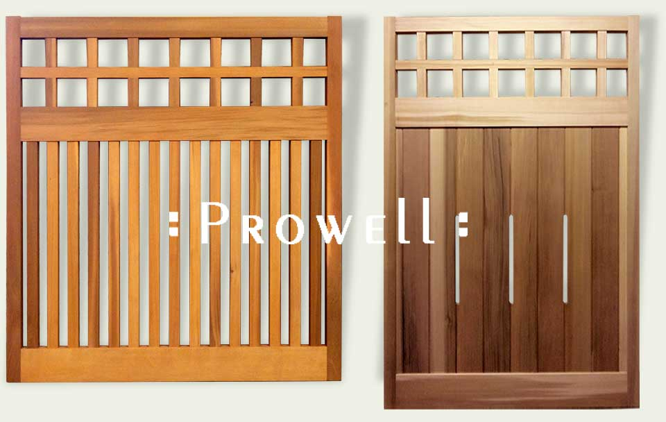 custom wood fence panels #22 by Prowell Woodworks