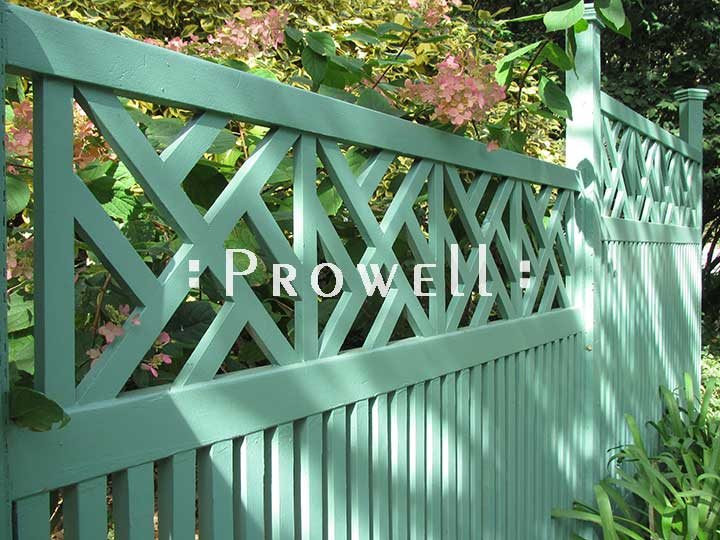custom wood colonial fence panel #23 in Marin County, CA