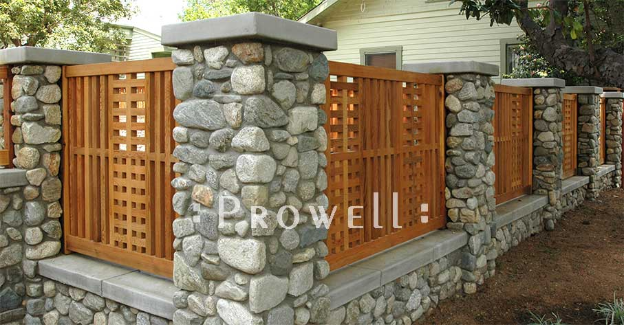 site photograph showing garden fence #24 in claremont, california