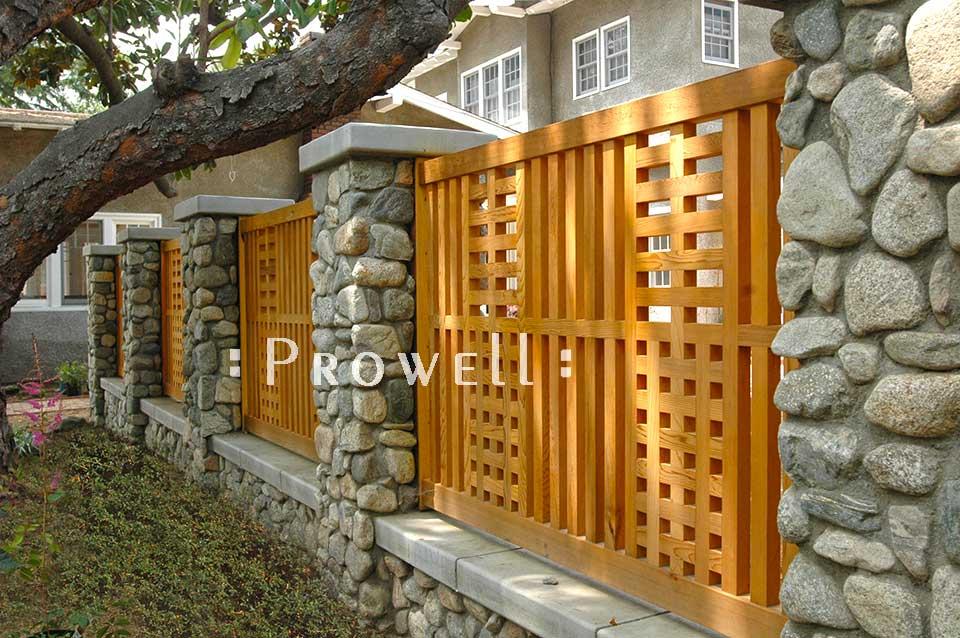 custom wood fence panel #24 in Los Angeles