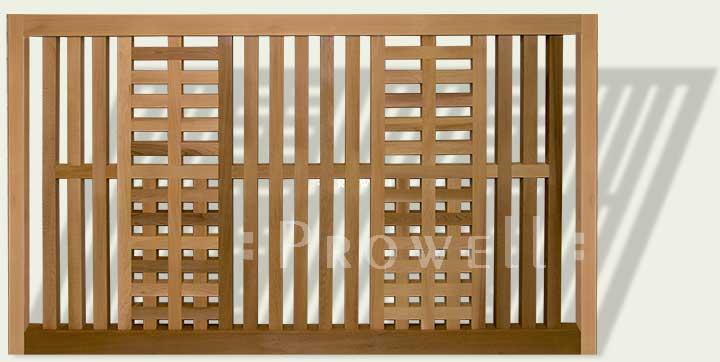 wood garden fence panel #24 in Pasadena, CA