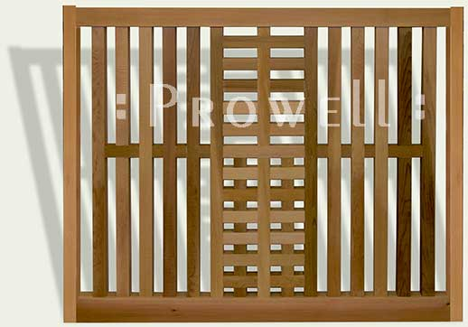 wood fence panel in southern California