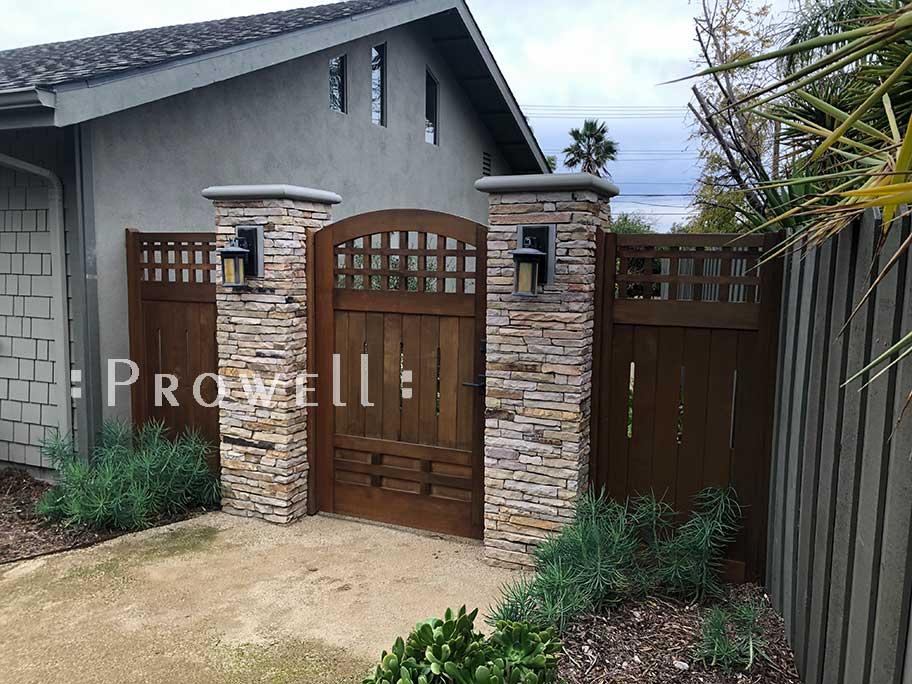 custom wood garden fence #25-2 in thousand oaks, CA. prowell