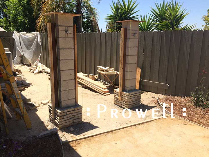 installed wood jambs for gates. Prowell