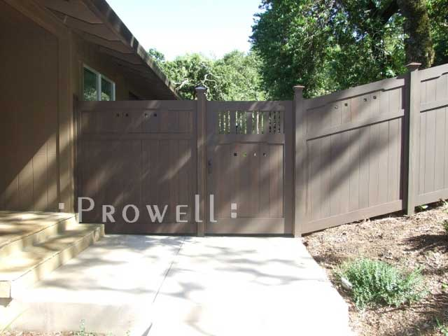 custom wood fence panels sloping grade in Sonoma County, CA
