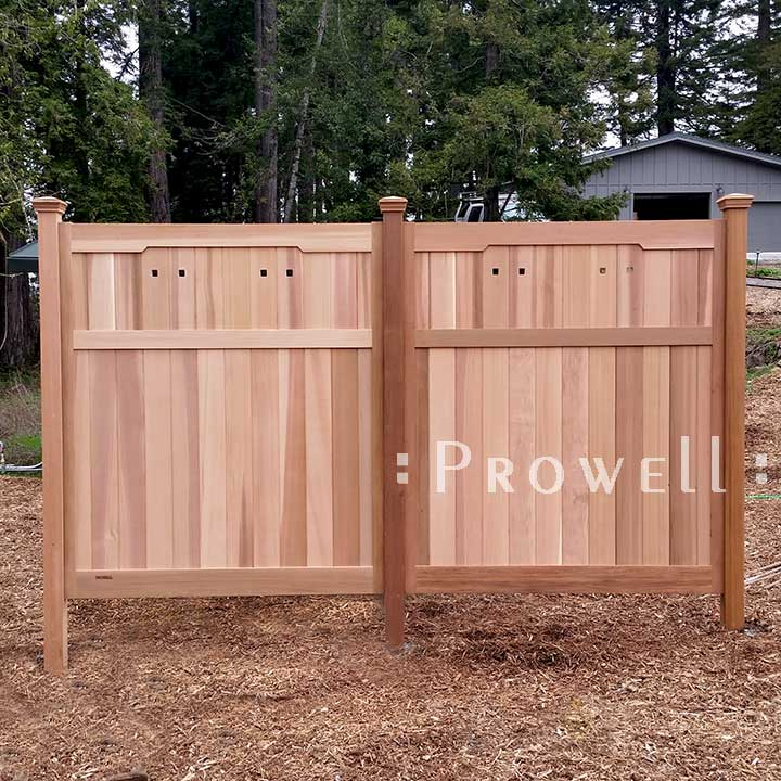 custom wood fence panels for privacy on the California coast