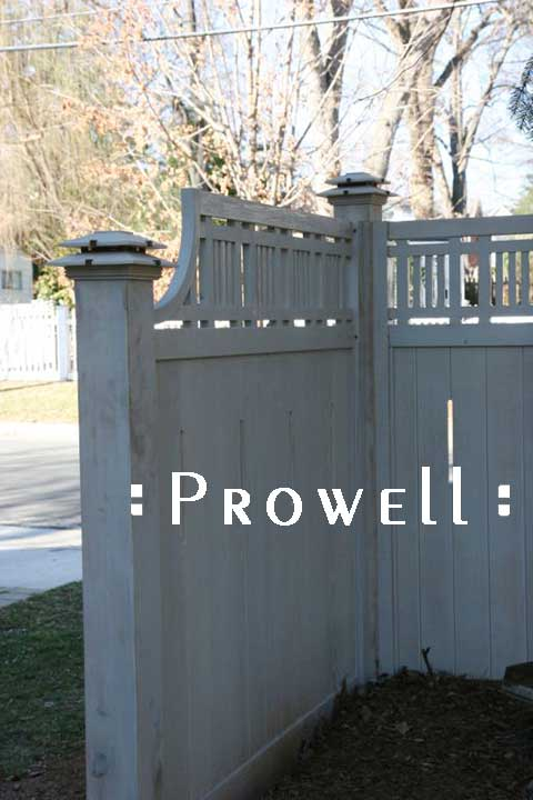 Prowell Post Caps on custom fence panels in Washington Beltway