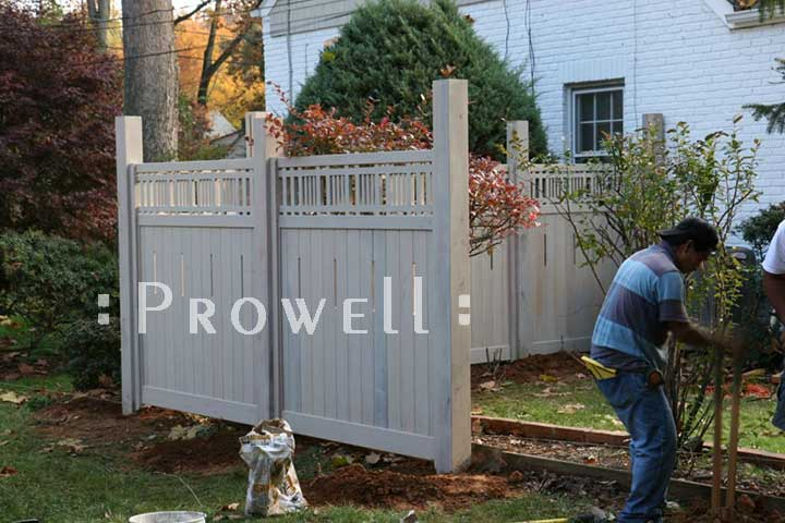 How to set a fence panel in Washington Beltway
