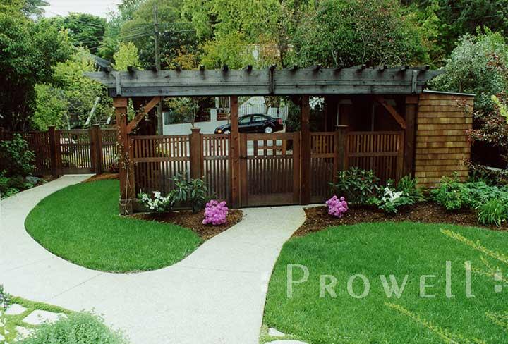 custom wood fence panels #2-10 in Marin county