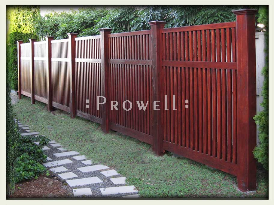wood garden fence style 2. prowell