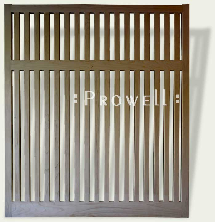 custom wood fence panel #2 as open pickets