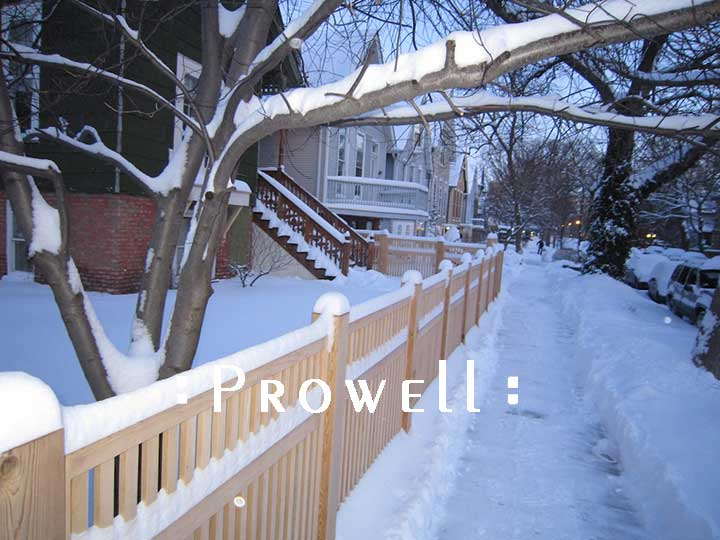 wood fence panels #2 in the cold winter on Chicago