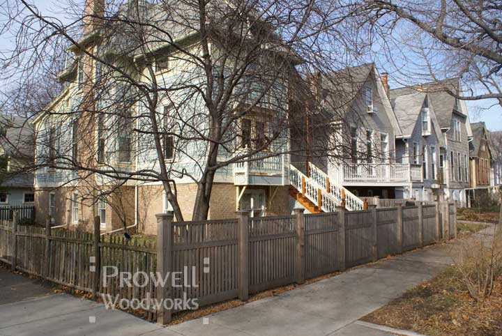 custom wood picket fence in Chicago