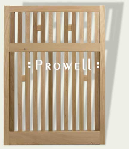 wood fence panels with open pickets in San Francisco bay area