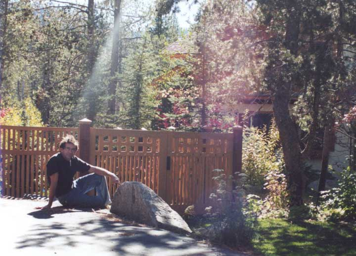 charles prowell with wood fence Panels #2-8 in Lake Tahoe