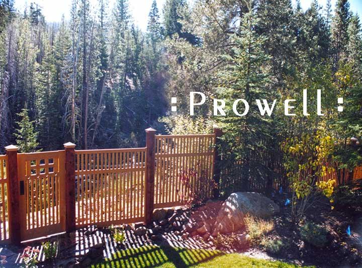 custom wood fence panels in the Sierras