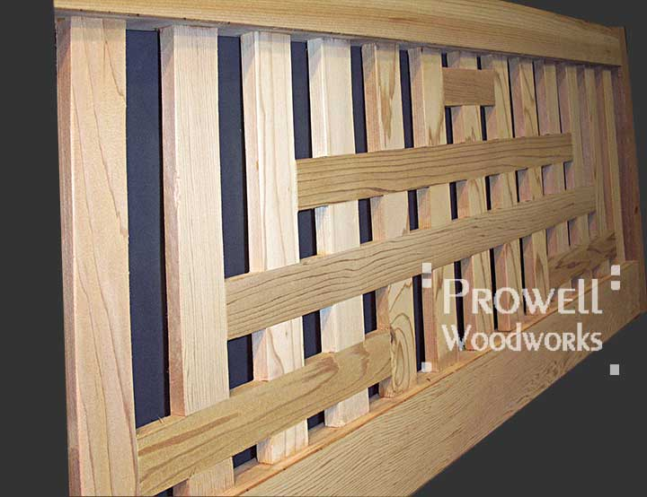 wood fence panels with grids