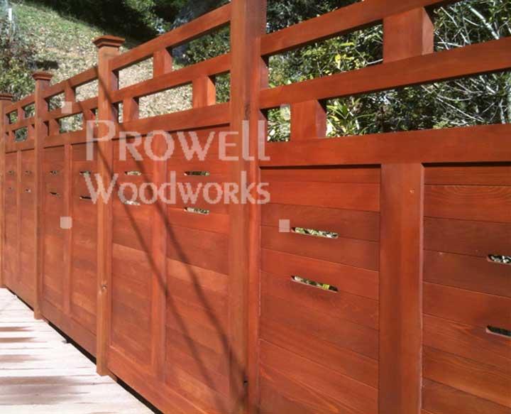 horizontal wood garden fence panels