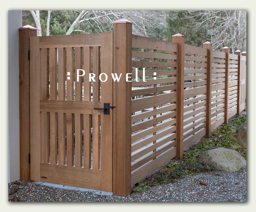 custom wood horizontal garden fence 3b in Massachusetts