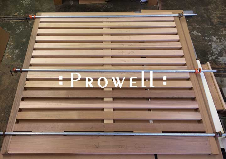 assembling a Prowell fence.