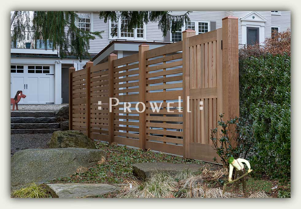 custom wood horizontal fence 3c in Massachusetts. Prowell