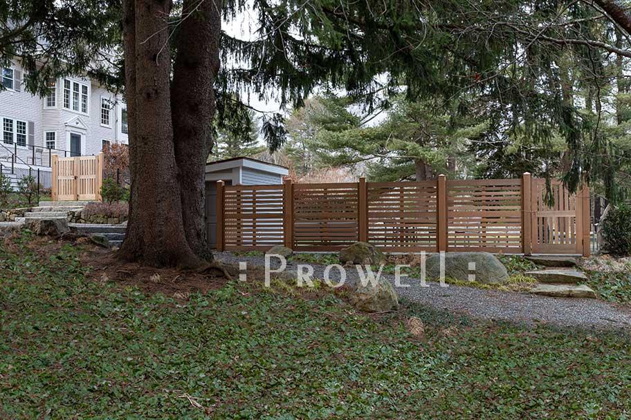 custom wood horizontal fence 3d in Massachusetts. Prowell woodworks