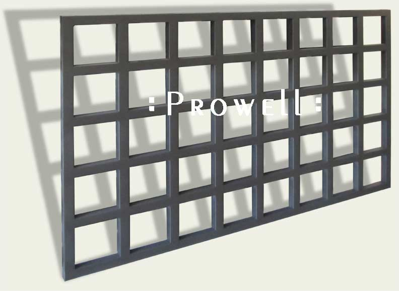 custom wood open grid fence panel #4