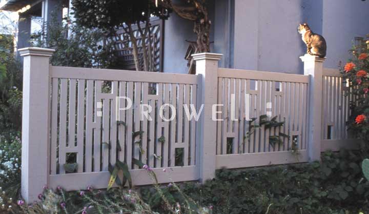 custom wood fence panel #6-1 in Sonoma County, CA