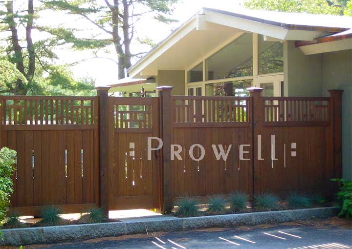 Wood Arts and Crafts Fence Panels in Massachusetts