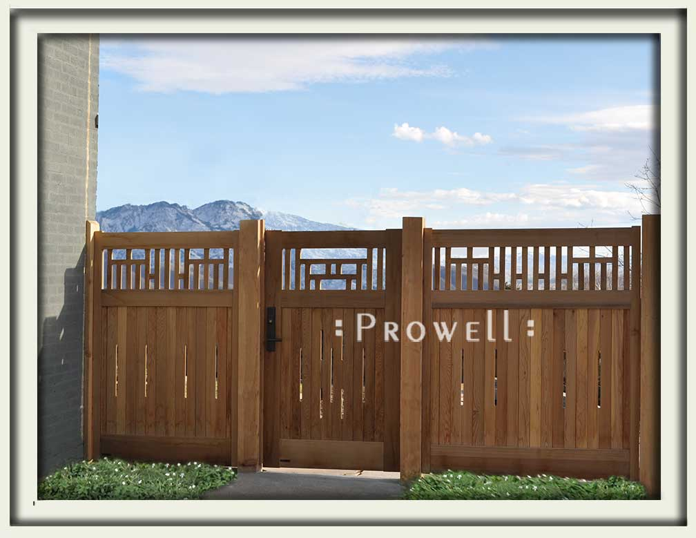 custom wood fence panels #9 in Salt Lake City